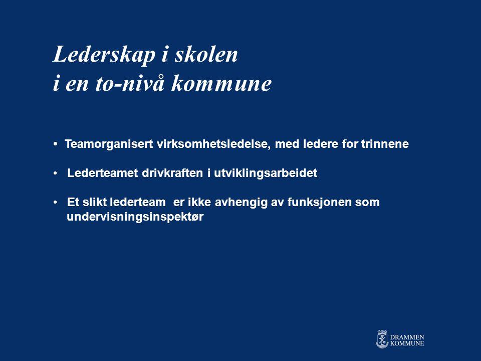 Lederskap i skolen i en to-nivå kommune