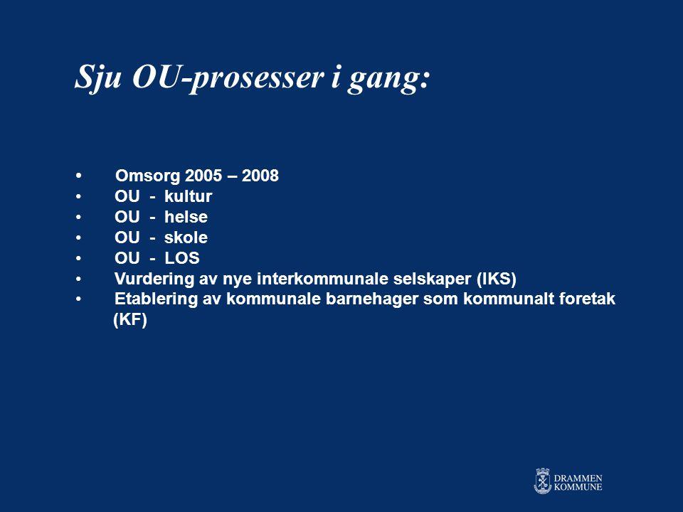 Sju OU-prosesser i gang:
