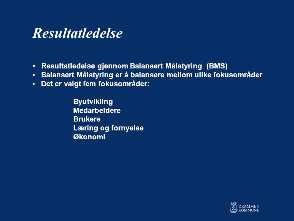 Resultatledelse Resultatledelse gjennom Balansert Målstyring (BMS)