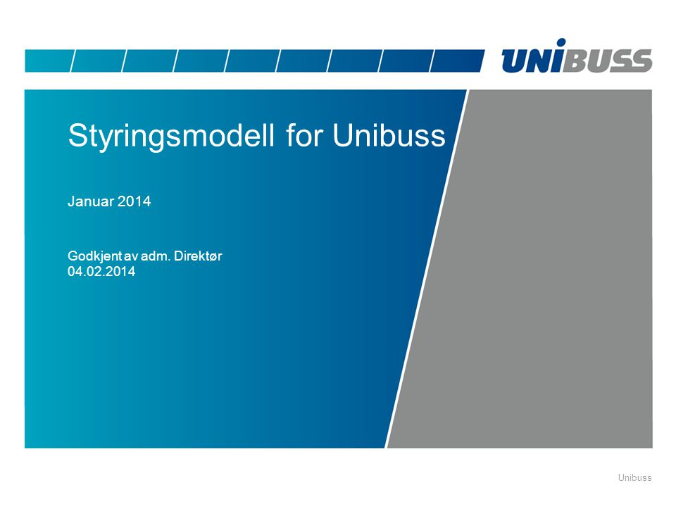 Styringsmodell for Unibuss