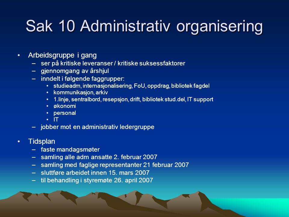 Sak 10 Administrativ organisering