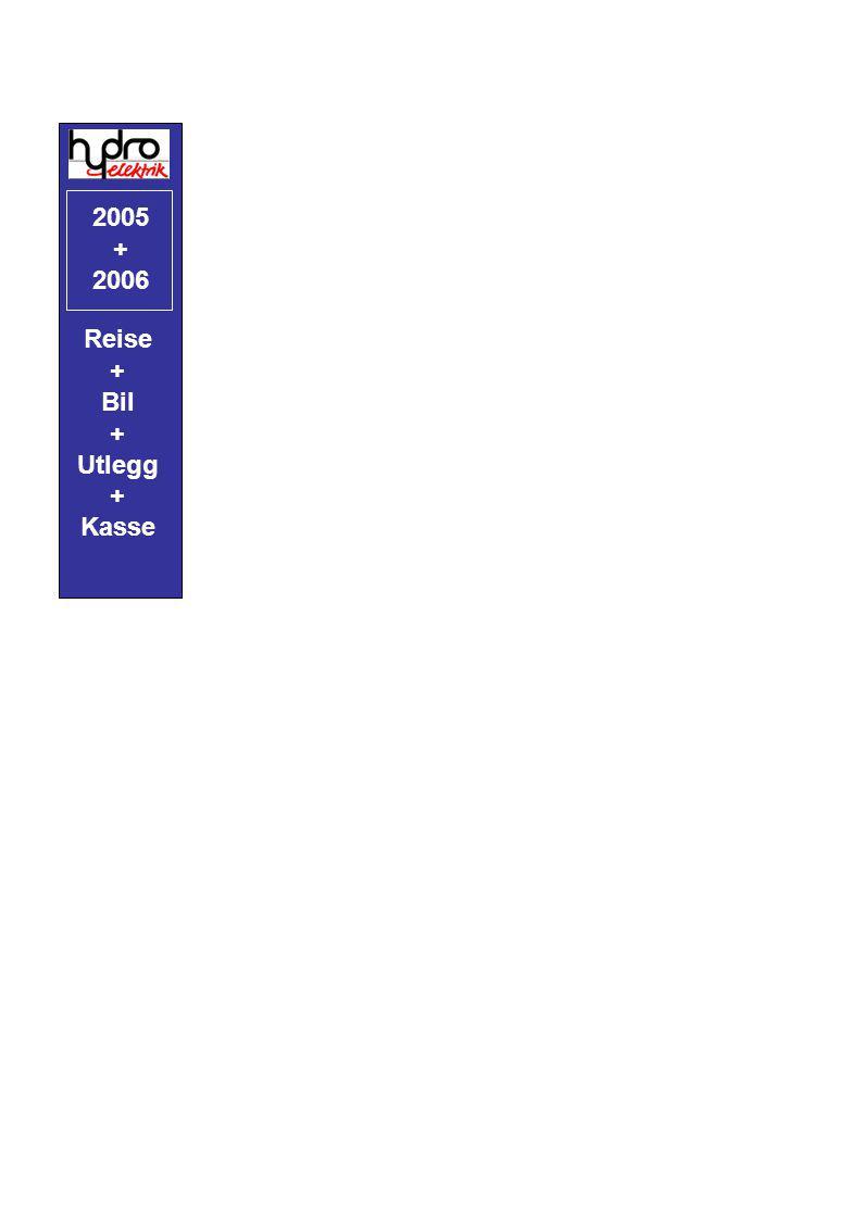 2005 + 2006 Reise + Bil Utlegg Kasse