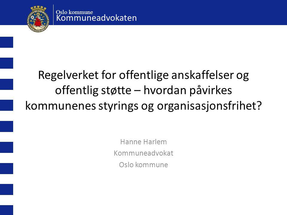 Hanne Harlem Kommuneadvokat Oslo kommune