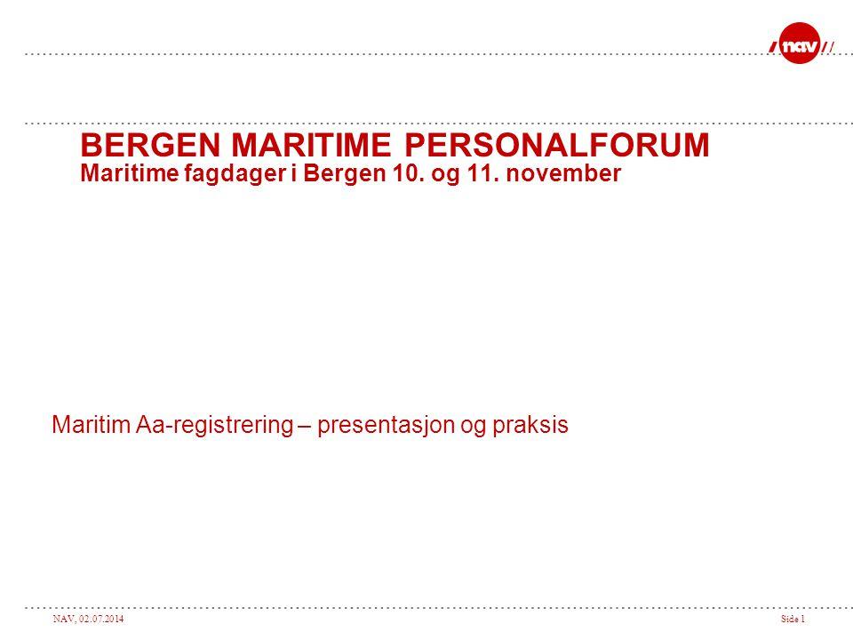 Maritim Aa-registrering – presentasjon og praksis