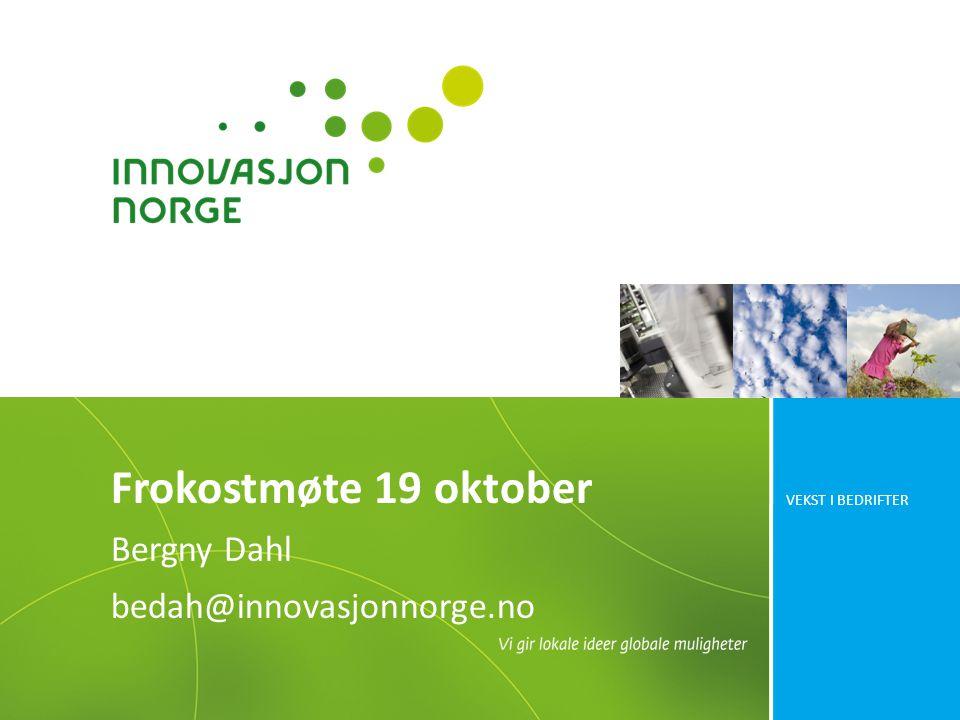 Bergny Dahl bedah@innovasjonnorge.no