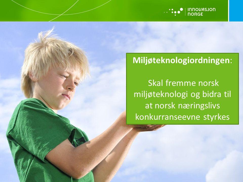 Miljøteknologiordningen: