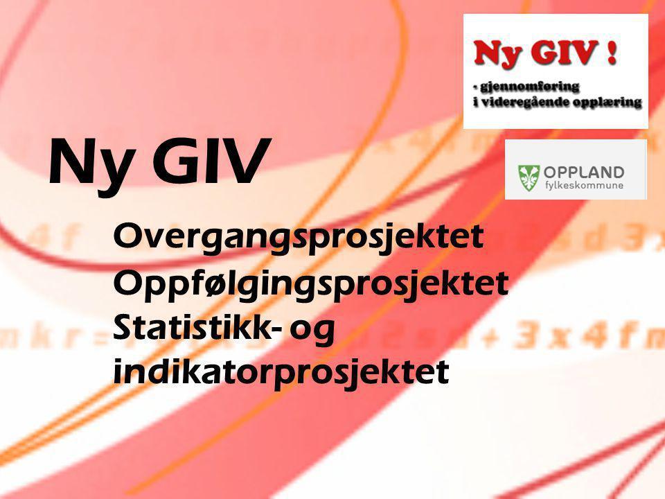 Ny GIV. Overgangsprosjektet. Oppfølgingsprosjektet. Statistikk- og
