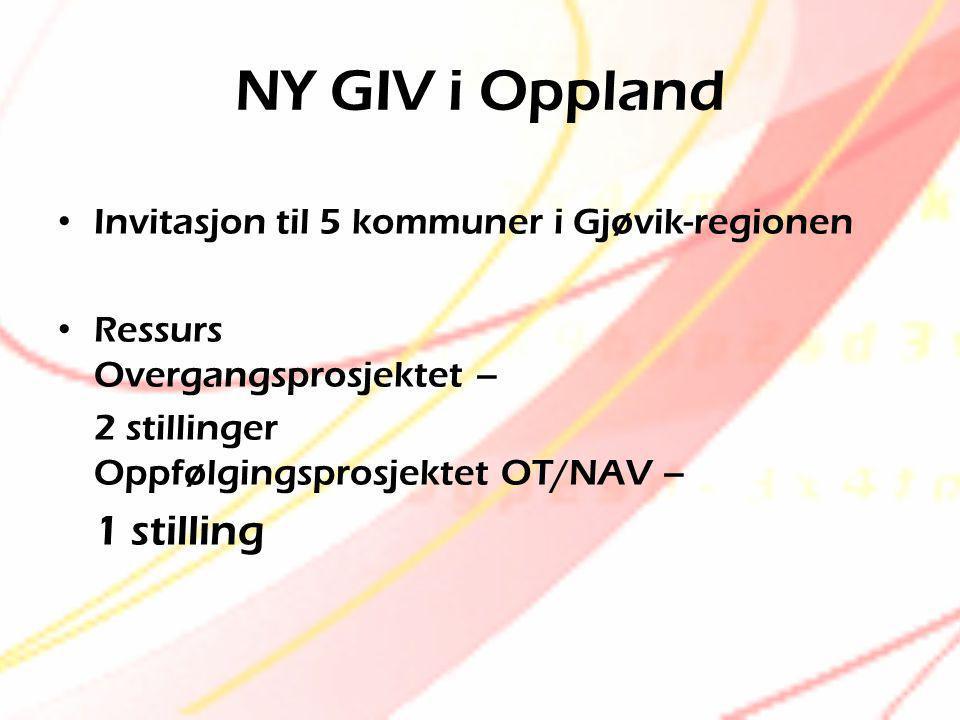 NY GIV i Oppland 1 stilling