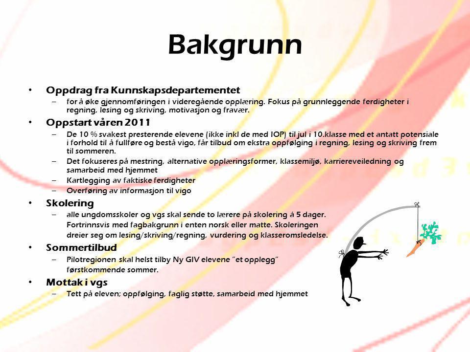 Bakgrunn Oppdrag fra Kunnskapsdepartementet Oppstart våren 2011