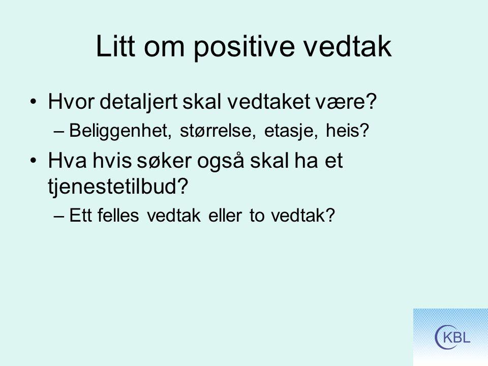Litt om positive vedtak