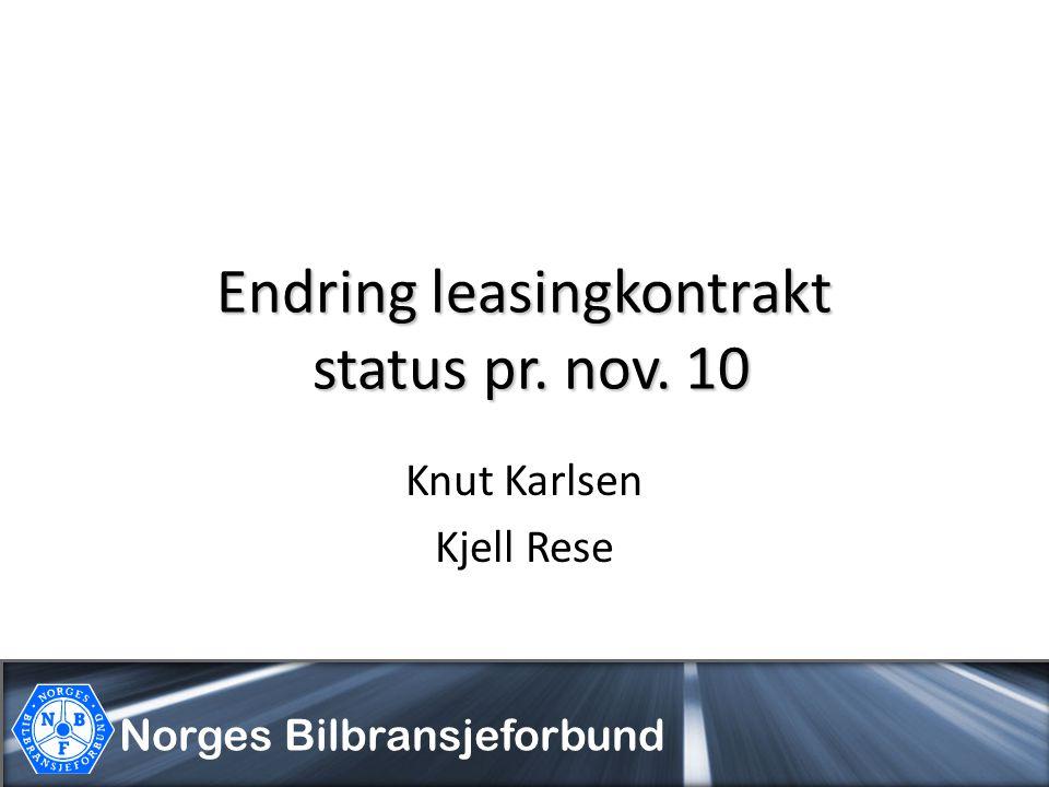 Endring leasingkontrakt status pr. nov. 10