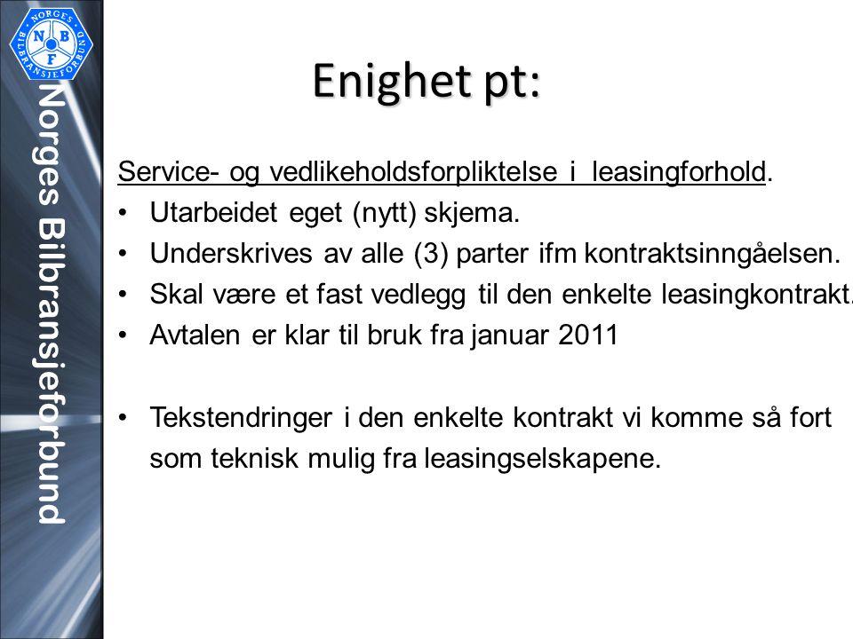 Enighet pt: Norges Bilbransjeforbund