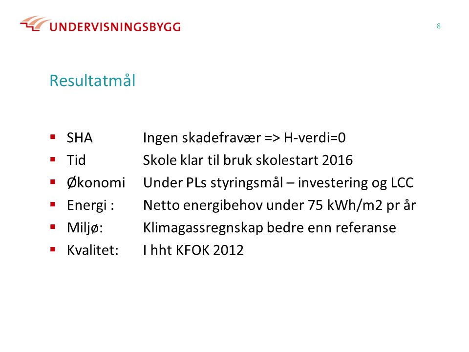 Resultatmål SHA Ingen skadefravær => H-verdi=0
