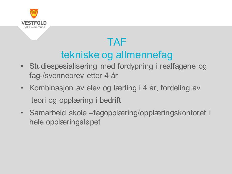 TAF tekniske og allmennefag