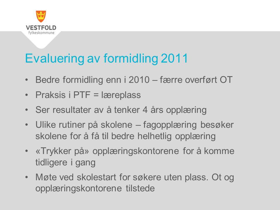 Evaluering av formidling 2011