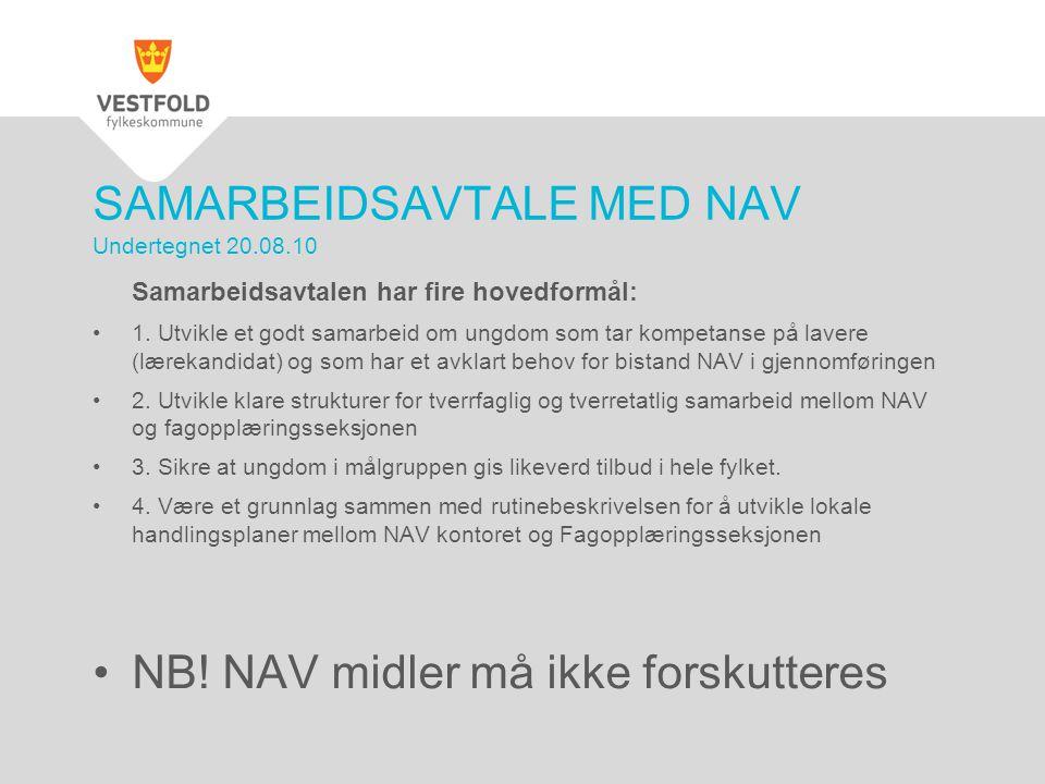 SAMARBEIDSAVTALE MED NAV Undertegnet 20.08.10