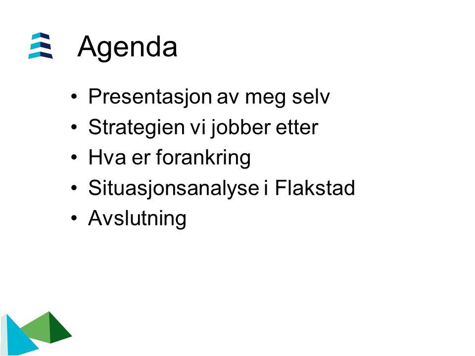 Agenda Presentasjon av meg selv Strategien vi jobber etter