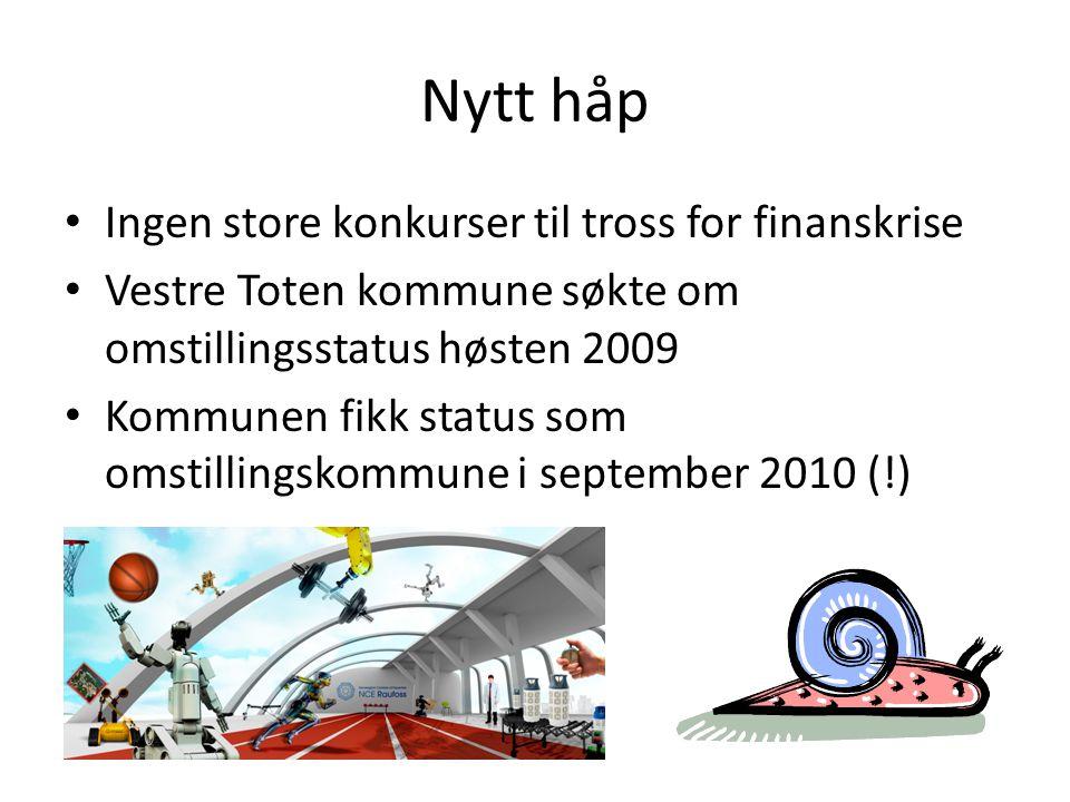 Nytt håp Ingen store konkurser til tross for finanskrise