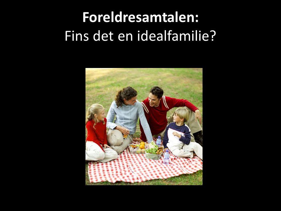 Foreldresamtalen: Fins det en idealfamilie