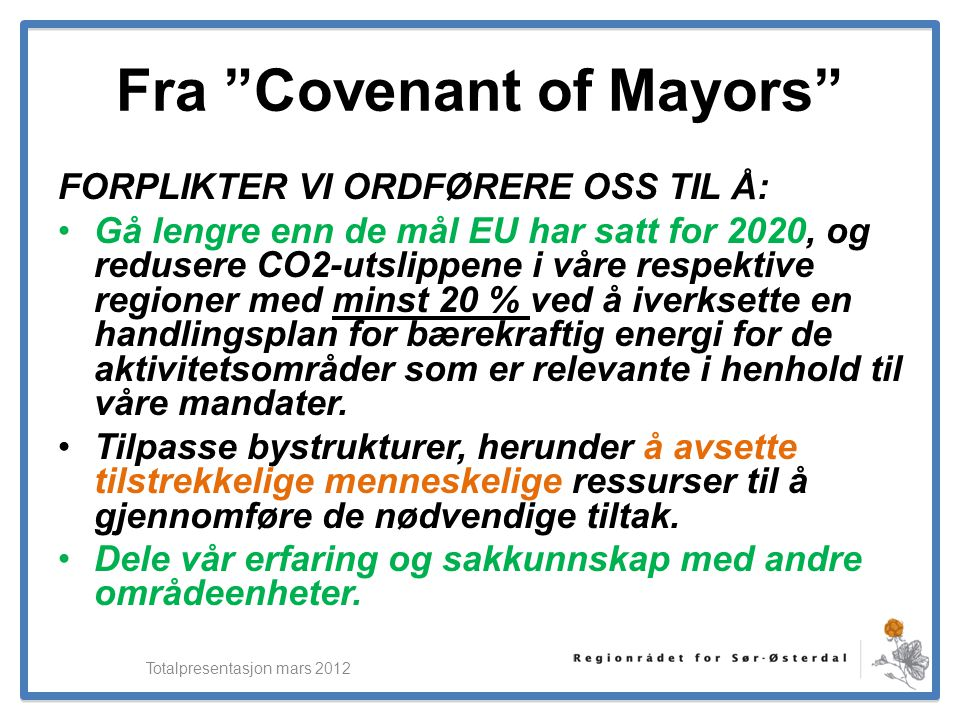 Fra Covenant of Mayors