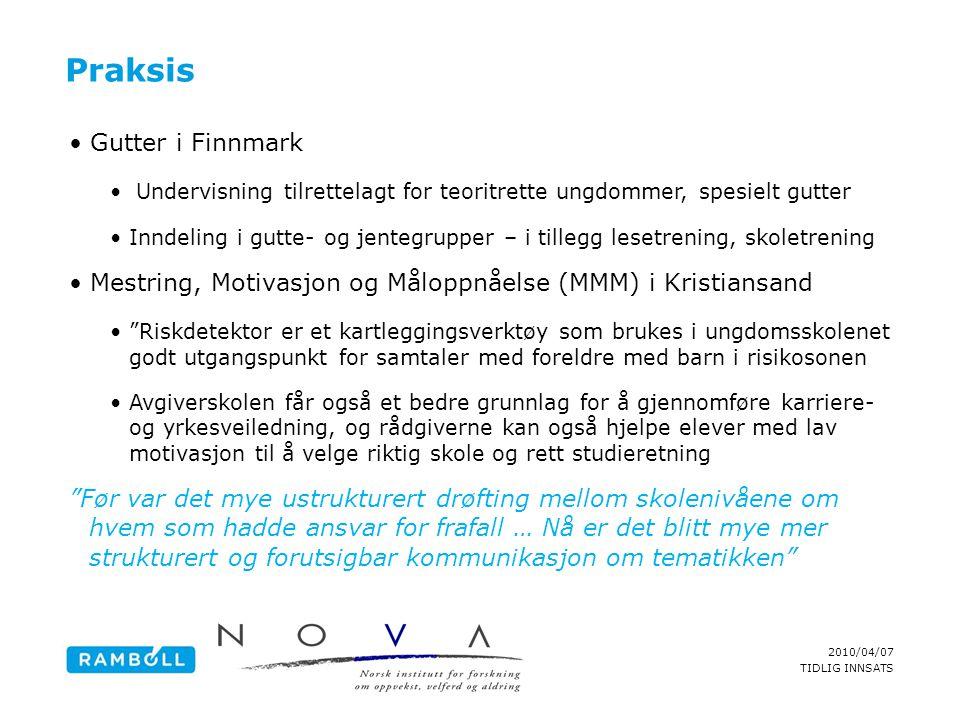 Praksis Gutter i Finnmark