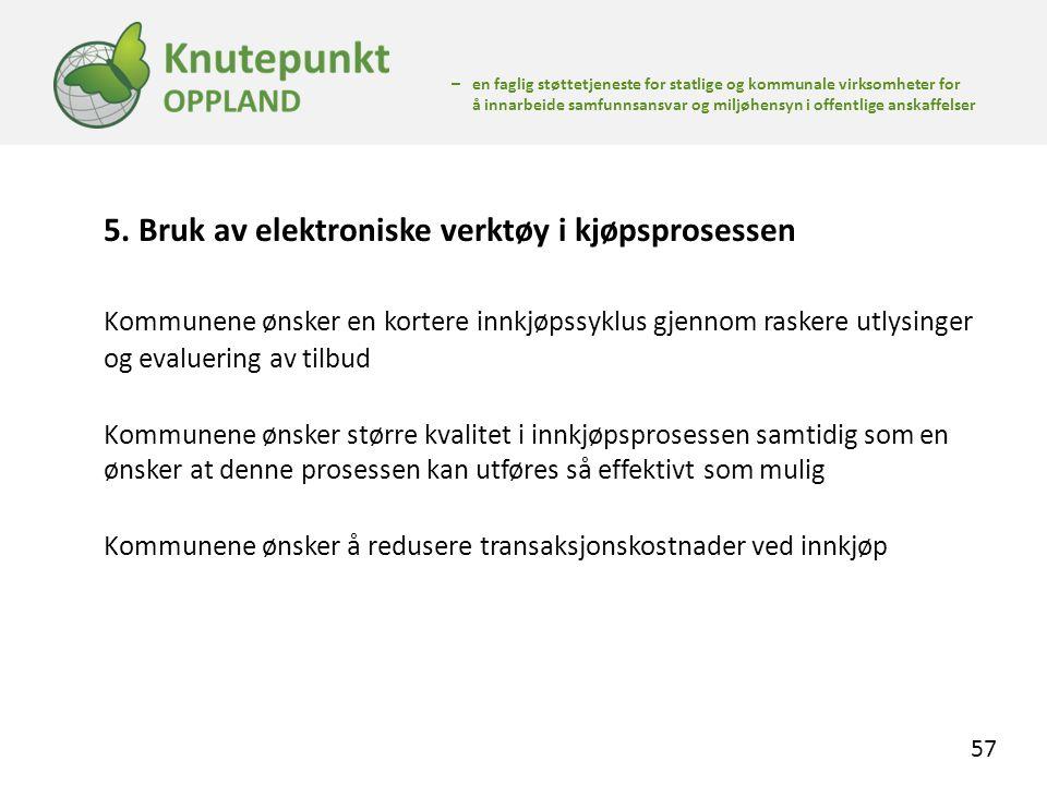 5. Bruk av elektroniske verktøy i kjøpsprosessen