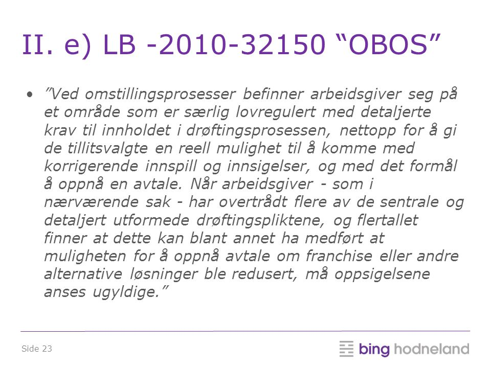 II. e) LB -2010-32150 OBOS