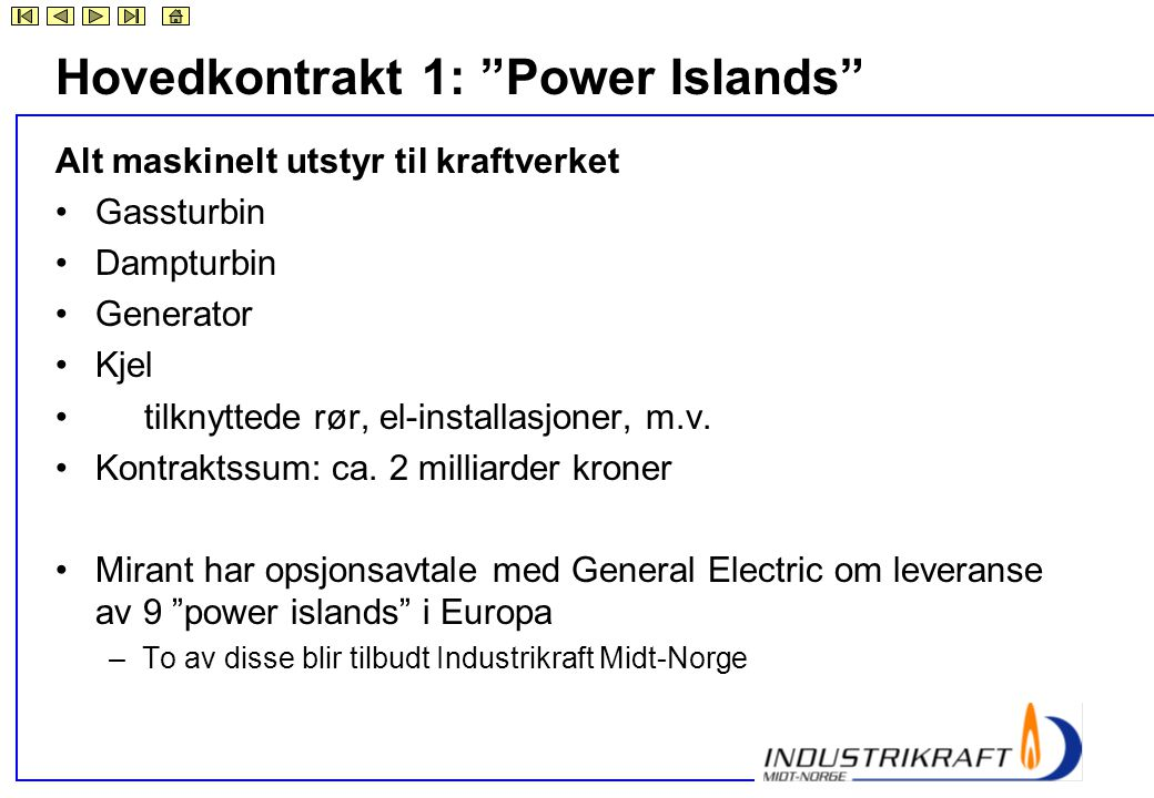 Hovedkontrakt 1: Power Islands