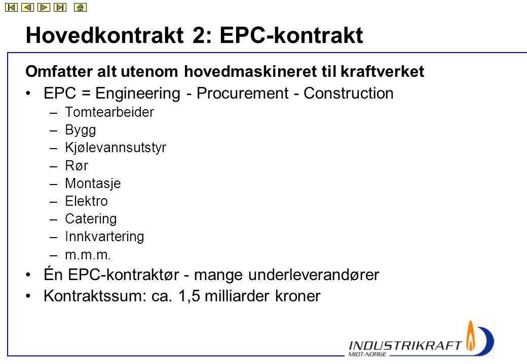 Hovedkontrakt 2: EPC-kontrakt