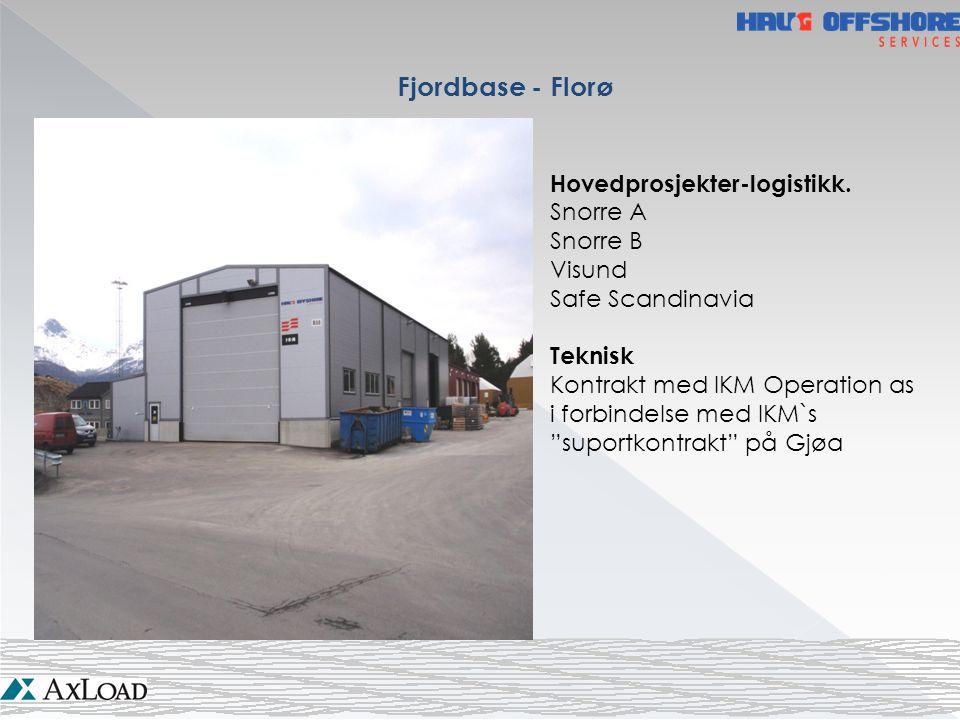 Fjordbase - Florø Hovedprosjekter-logistikk. Snorre A Snorre B Visund