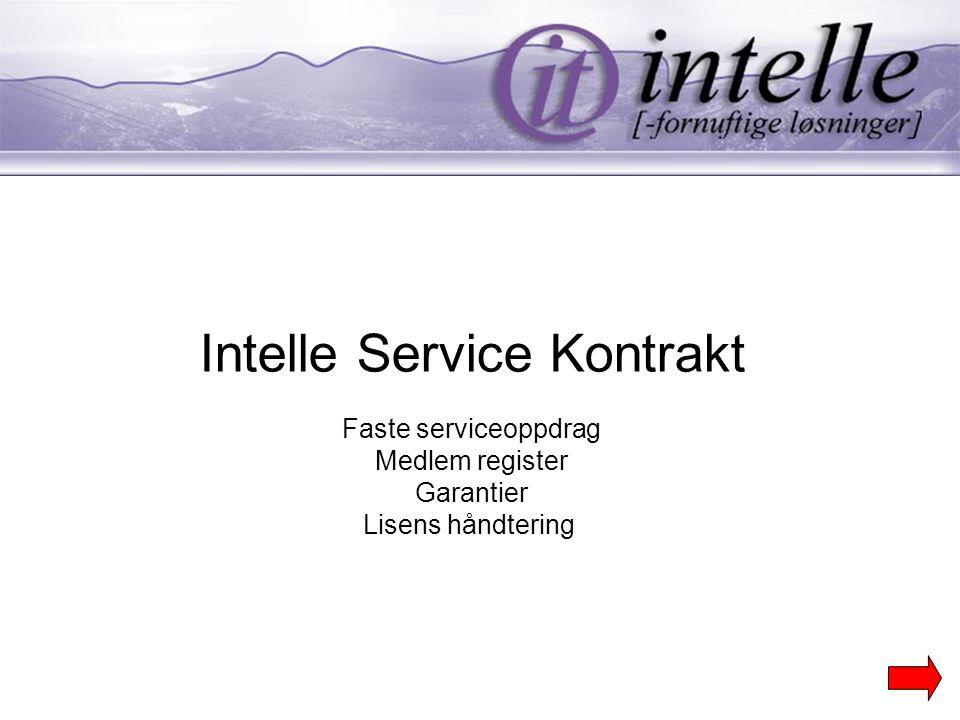 Intelle Service Kontrakt