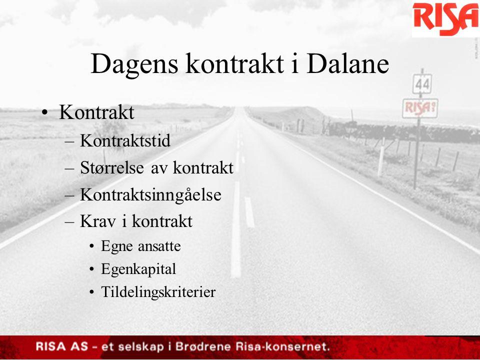 Dagens kontrakt i Dalane
