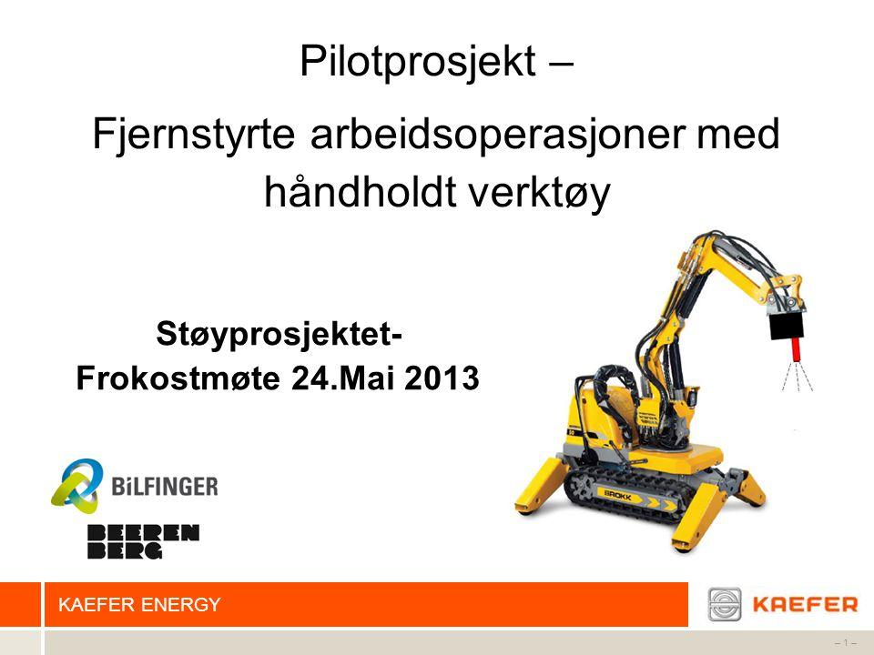 Støyprosjektet- Frokostmøte 24.Mai 2013