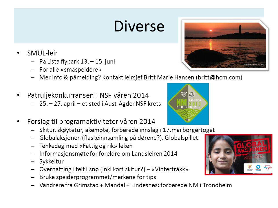 Diverse SMUL-leir Patruljekonkurransen i NSF våren 2014