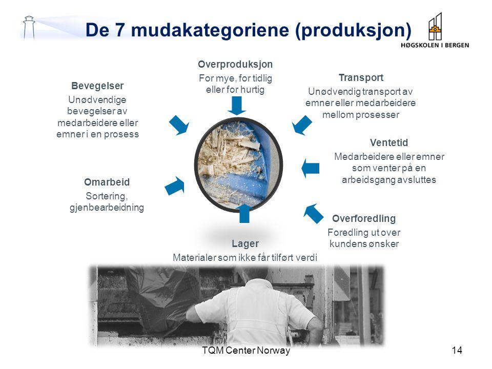 De 7 mudakategoriene (produksjon)