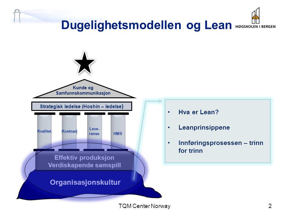Dugelighetsmodellen og Lean