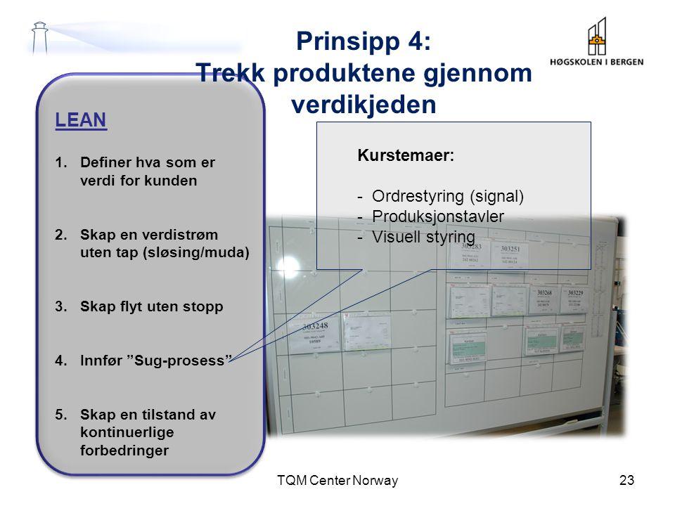 Prinsipp 4: Trekk produktene gjennom verdikjeden