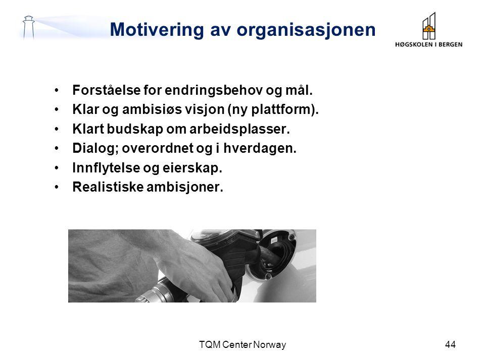 Motivering av organisasjonen
