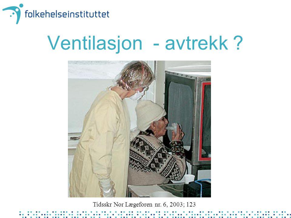 Ventilasjon - avtrekk Tidsskr Nor Lægeforen nr. 6, 2003; 123