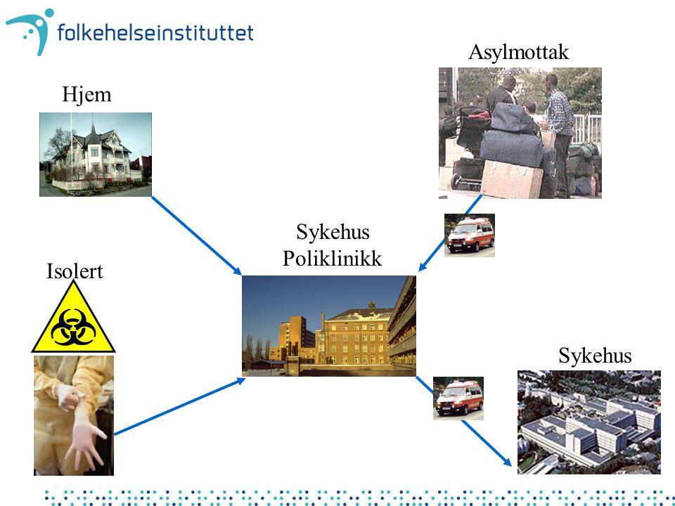 Asylmottak Hjem Sykehus Poliklinikk Isolert Sykehus
