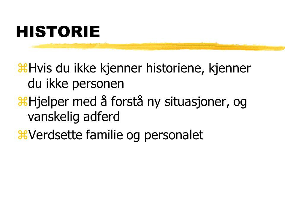 HISTORIE Hvis du ikke kjenner historiene, kjenner du ikke personen