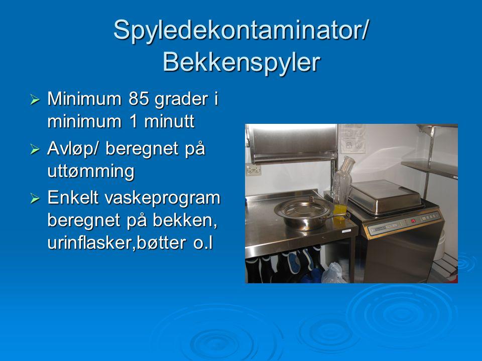 Spyledekontaminator/ Bekkenspyler
