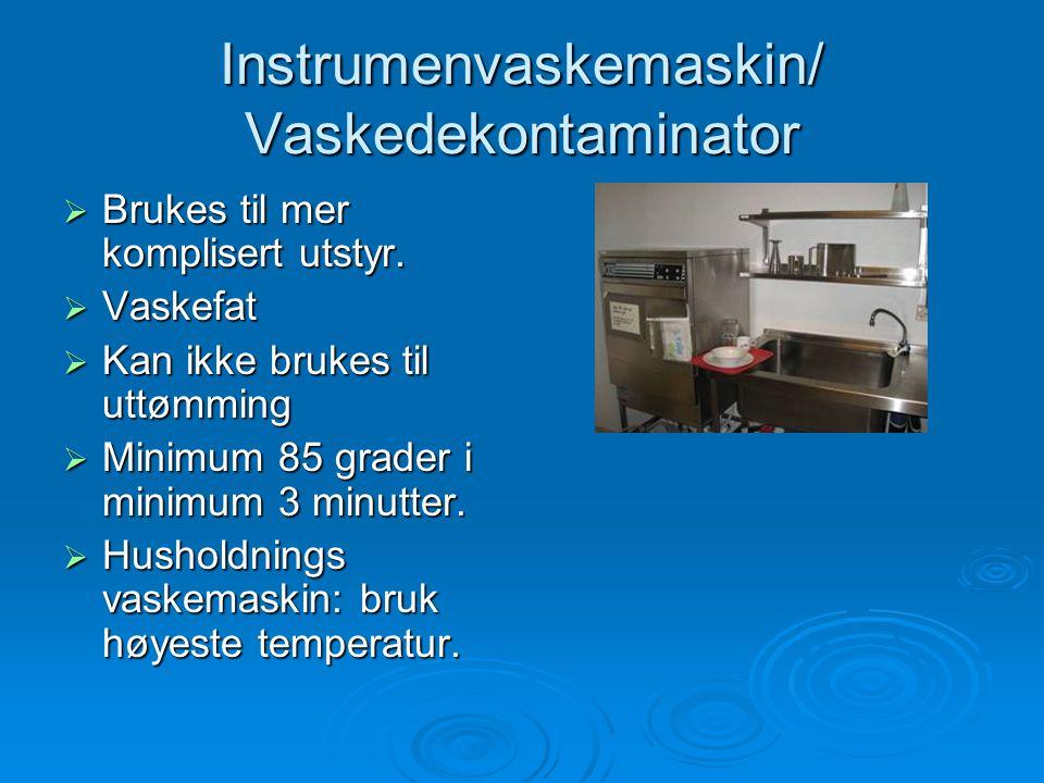 Instrumenvaskemaskin/ Vaskedekontaminator