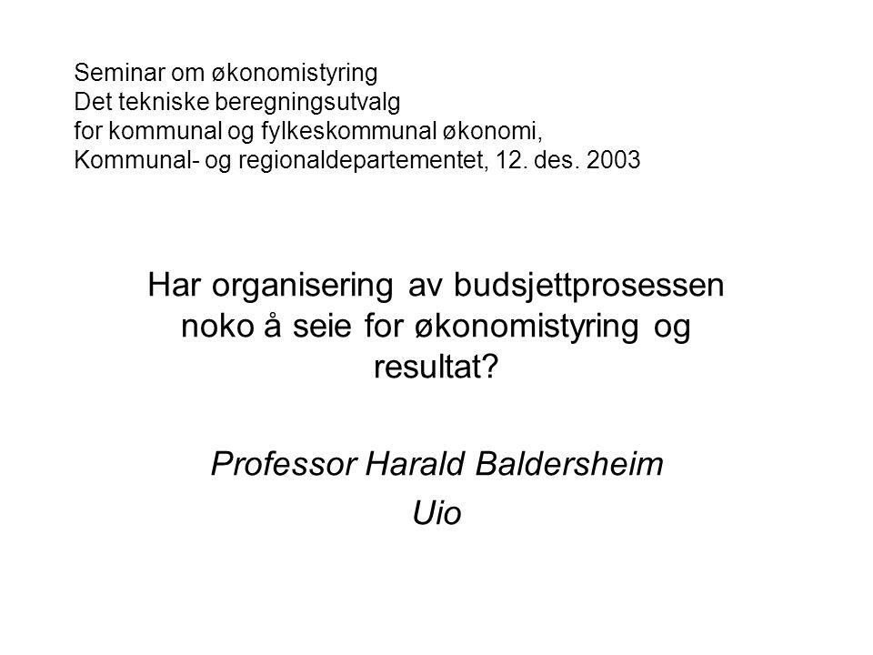 Professor Harald Baldersheim