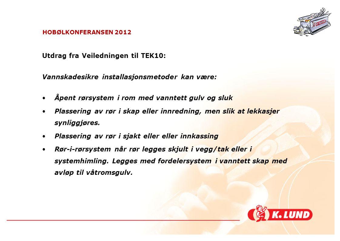 Utdrag fra Veiledningen til TEK10: