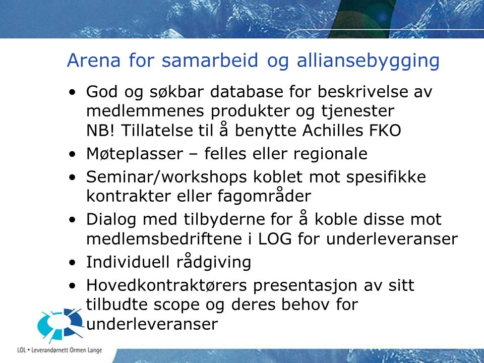 Arena for samarbeid og alliansebygging