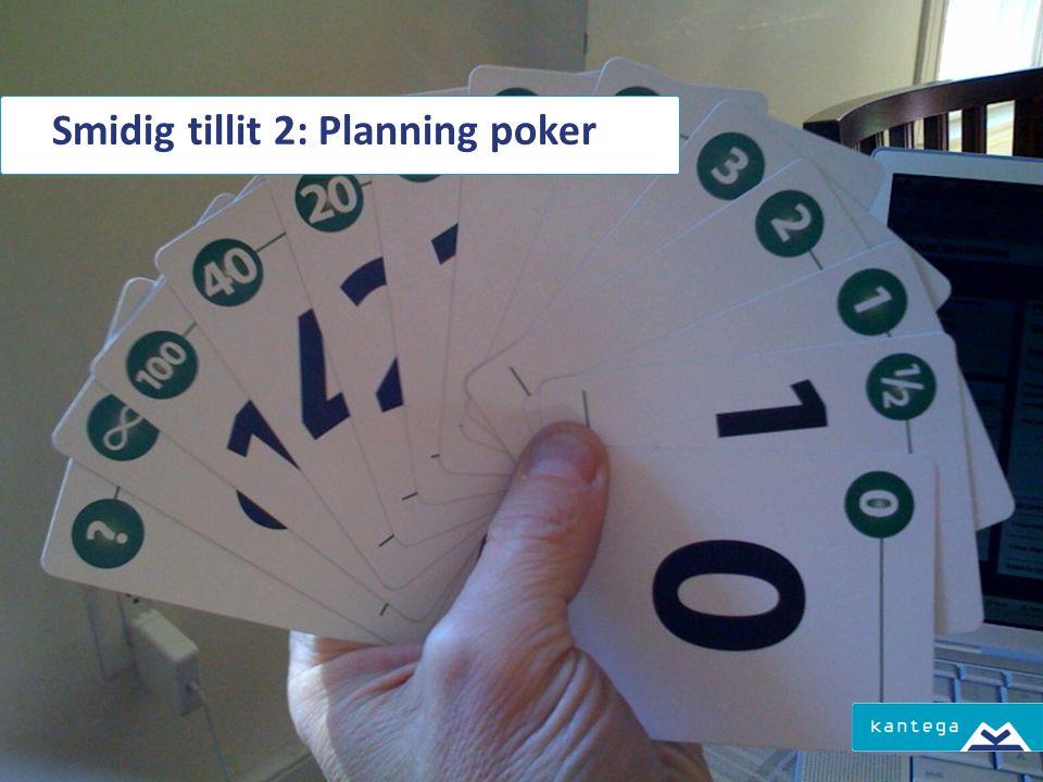 Smidig tillit 2: Planning poker