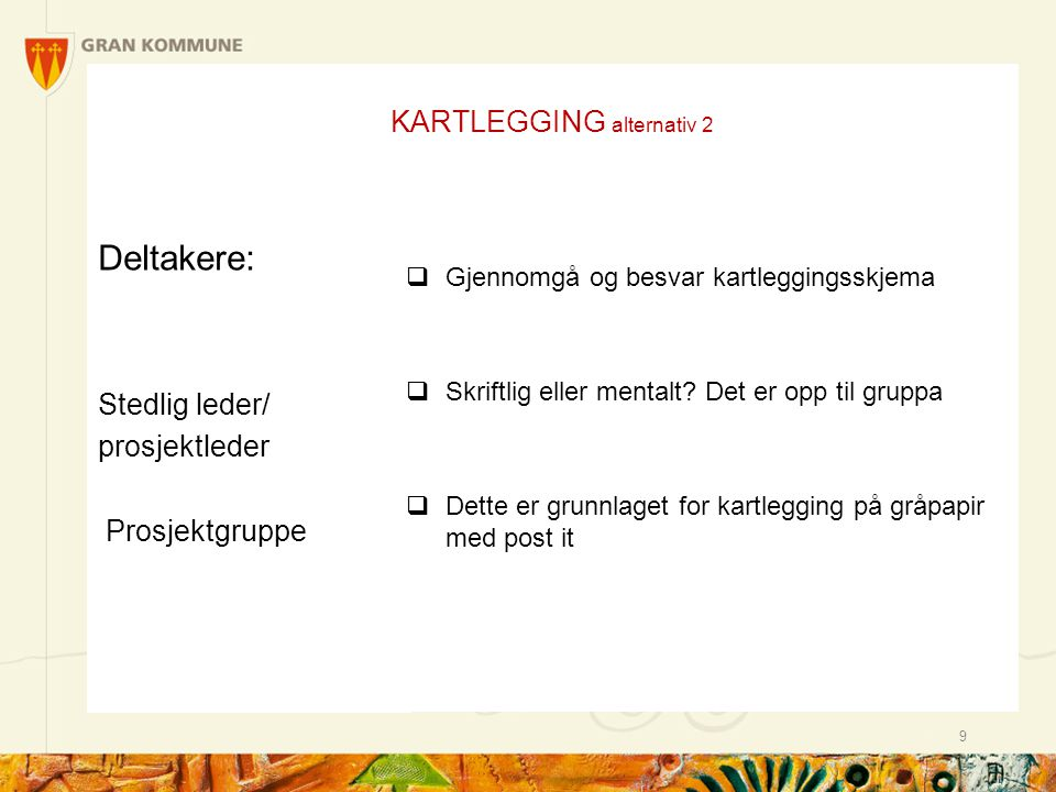 KARTLEGGING alternativ 2
