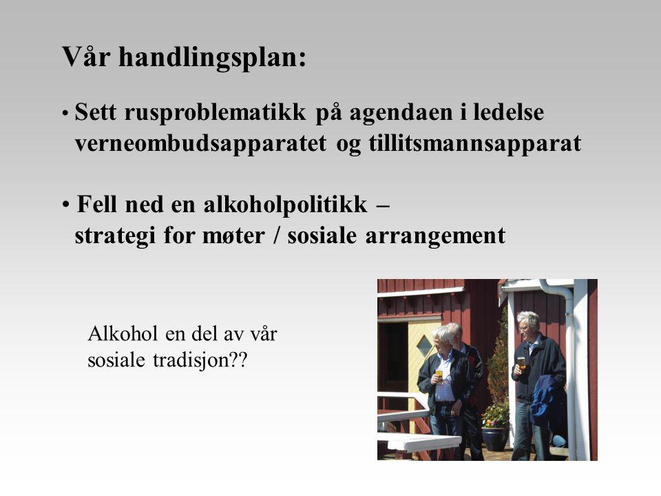 Vår handlingsplan: verneombudsapparatet og tillitsmannsapparat