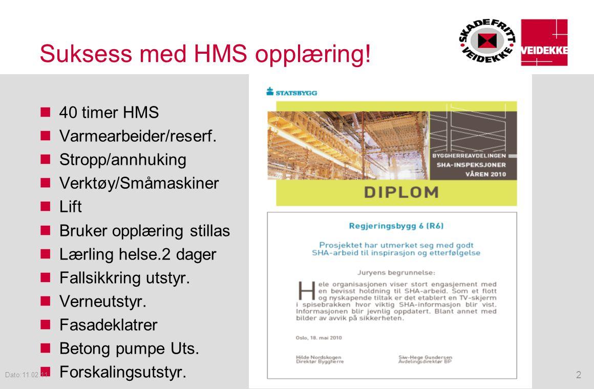 Suksess med HMS opplæring!
